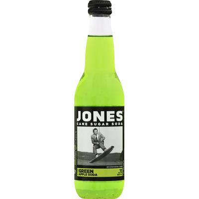 Jones Soda, Cane Sugar, Green Apple Flavor
