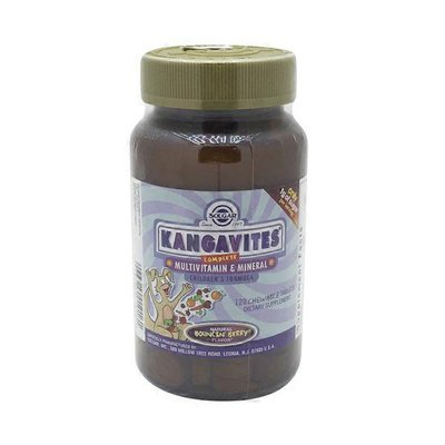 Solgar Kangavites Complete Multivitamin And Mineral Children's Formula Bouncin' Berry Chewable Tablets