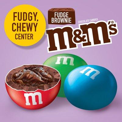 M&M's Fudge Brownie Singles Size Chocolate Candy