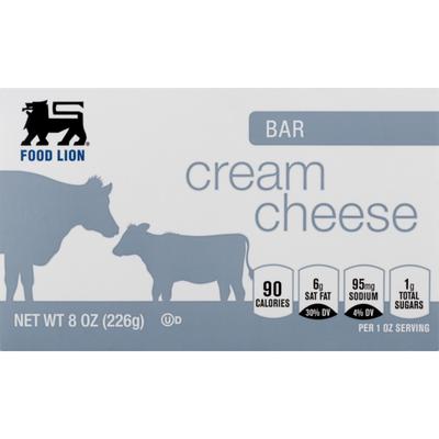 Food Lion Cheese Bar, Cream, Box