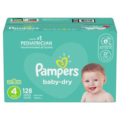 Pampers Baby Dry Diapers Size 4