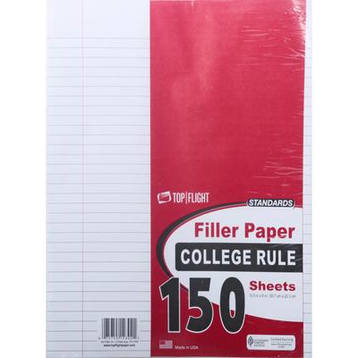 Top Flight Filler Paper, College Rule