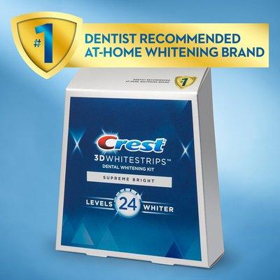 Crest 3Dwhitestrips Supreme Bright At-Home Teeth Whitening Kit