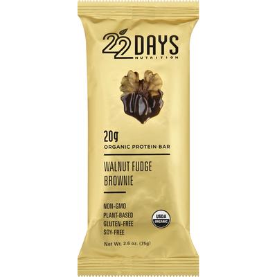 22 Days Protein Bar, Organic, Walnut Fudge Brownie