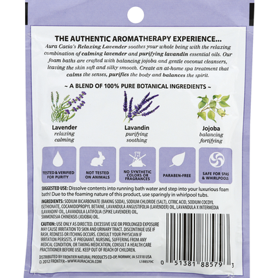 Aura Cacia Foam Bath, Aromatherapy, Relaxing Lavender