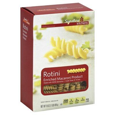 Signature Kitchens Enriched Macaroni Product, Rotini