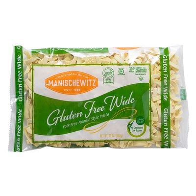 Manischewitz Noodle Style Pasta, Yolk Free, Gluten Free, Wide