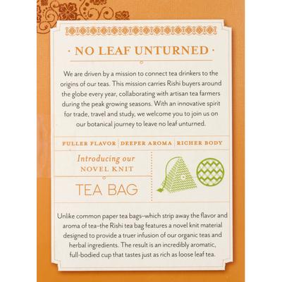 Rishi Tea Organic Turmeric Ginger Herbal Tea, Caffeine-Free
