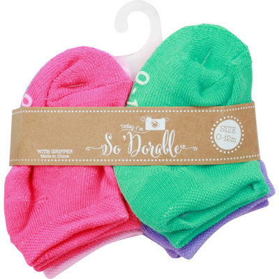 So Dorable Socks with Gripper, 0-12 Months