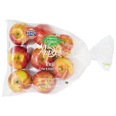 Wegmans Organic Food You Feel Good About Apples, Fuji, FAMILY PACK