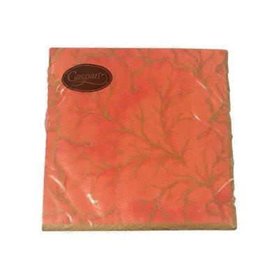 Caspari Orange Gilded Majolica Paper Luncheon Napkins