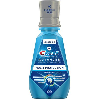 Crest Alcohol Free Anticavity Fluoride Mouthwash Extra Deep