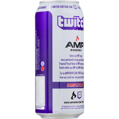 Amp Energy Drink, Tropical Punch Flavor