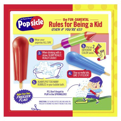 Popsicle Ice Pops And Frozen Dessert Sugar Free Red Classics
