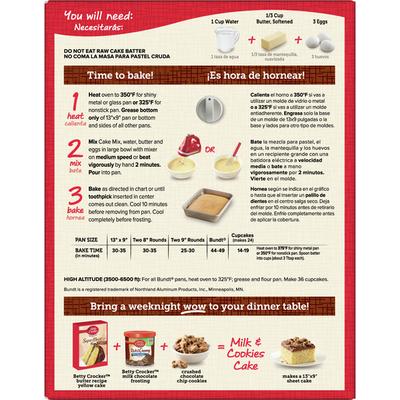Betty Crocker Super Moist Butter Recipe Yellow Cake Mix