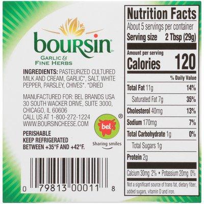 Boursin Garlic & Fine Herbs Gournay Cheese