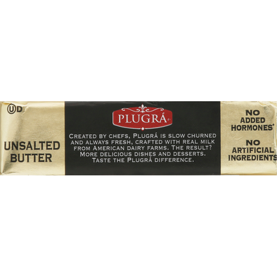 Plugra Butter, Unsalted, Extra Creamy