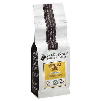 Charleston Coffee Roasters Coffee, Ground, Medium Roast, Breakfast Blend