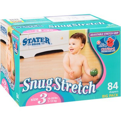 Stater Bros. Markets Snug Stretch Big Pack Size 3 Diapers