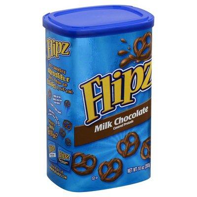 Flipz Pretzels, Milk Chocolate Covered, Tube