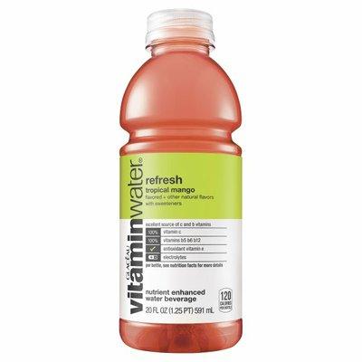 vitaminwater Refresh Electrolyte Enhanced Water W/ Vitamins, Tropical Mango Drink