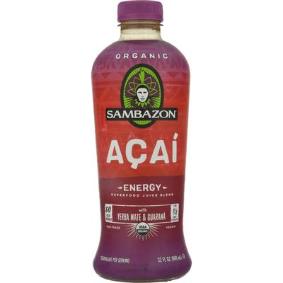 Sambazon Superfood Juice Blend, Organic, Acai, Energy