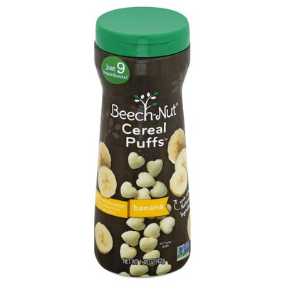 Beech-Nut Cereal Puffs, Banana, Stage 3 (from About 8 Months)