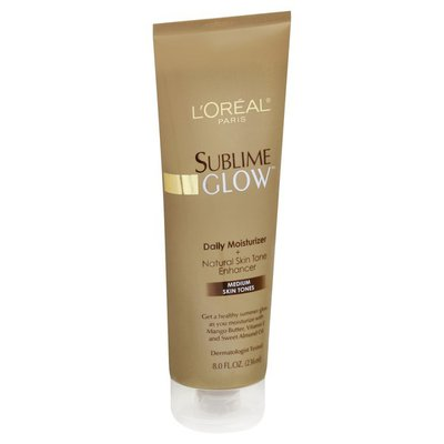 L'Oreal Sublime Glow Daily Moisturizer + Natural Skin Tone Enhancer Medium Skin Tones