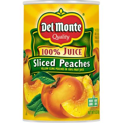 Del Monte Sliced Peaches, 100% Juice
