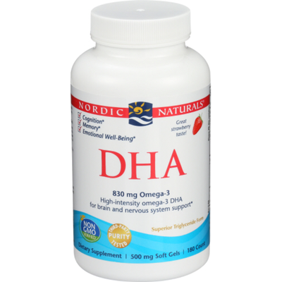 Nordic Naturals Dha Dietary Supplement, 500 Mg, Strawberry
