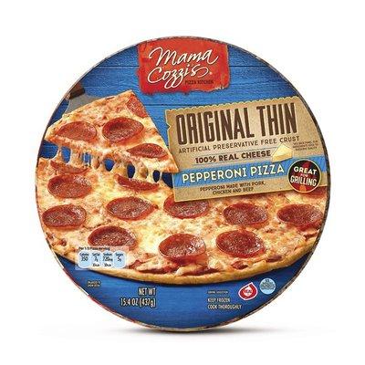 Mama Cozzi's Pizza Kitchen Thin Crust Pepperoni Pizza