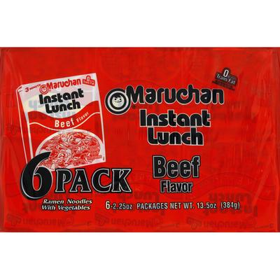 Maruchan Instant Lunch Beef Flavor Ramen noodles