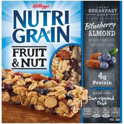Kellogg's Nutri-Grain Fruit & Nut Chewy Blueberry Almond Breakfast Bars