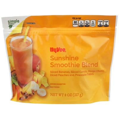 Hy-Vee Sunshine Smoothie Blend Sliced Bananas, Sliced Carrots, Mango Chunks, Diced Peaches And Pineapple Tidbits