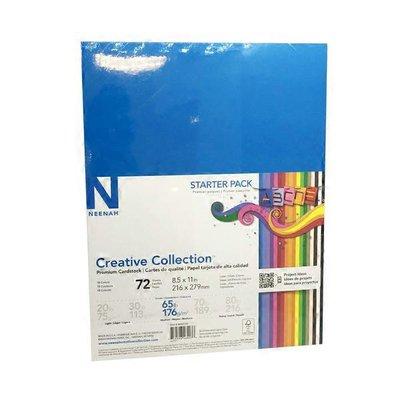"Neenah 8.5"" x 11"" Paper Cardstock Assorted Colors"