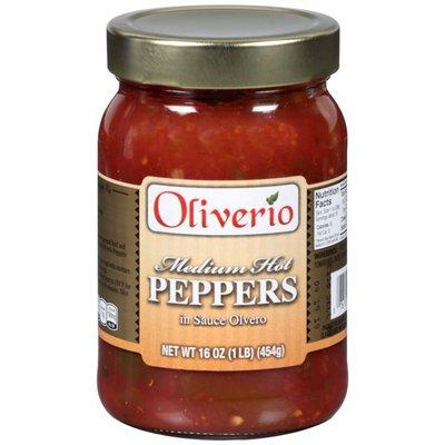Oliverio Medium Hot in Sauce Olvero Peppers