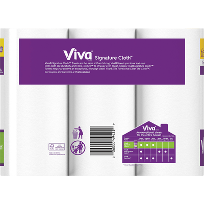 Viva Towels, Choose-A-Sheet, Big Rolls, 1-Ply