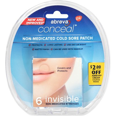 Abreva Conceal Invisible Non-Medicated Cold Sore Patch