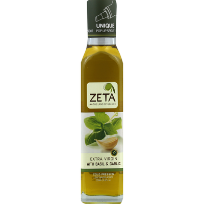 Zeta Extra Virgin Olive Oil Basil & Garlic Flavored