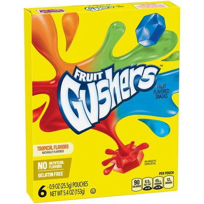 Betty Crocker Fruit Snacks, Gushers, Variety Snack Pack