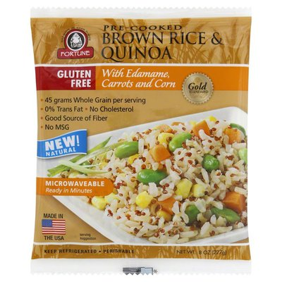 Fortune Brown Rice & Quinoa, Pre-Cooked, with Edamame, Carrots and Corn