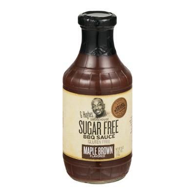 G Hughes BBQ Sauce, Sugar Free, Maple Brown Flavored