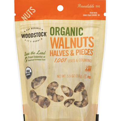 WOODSTOCK Walnuts, Organic, Halves and Pieces