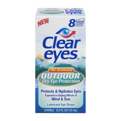 Clear Eyes Eye Drops Outdoor Dry Eye Protection