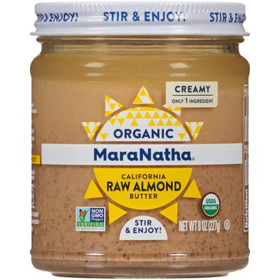 Maranatha Creamy Organic California Raw Almond Butter