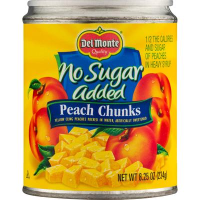 Del Monte Peach Chunks, No Sugar Added