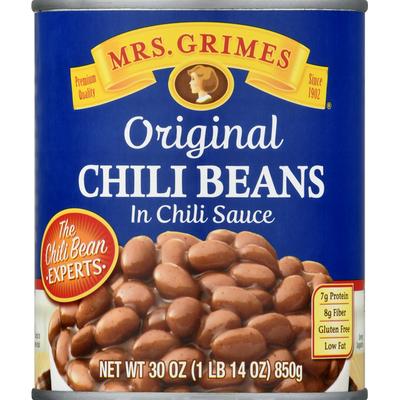 Mrs Grimes Chili Beans, in Chili Sauce, Original