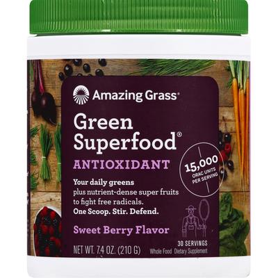 Amazing Grass Green Superfood, Sweet Berry Flavor, Antioxidant