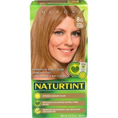 Naturtint Permanent Hair Color, Sandy Golden Blonde 8G