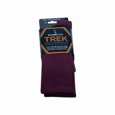 Incredisocks Medium Red Trek-Hiking Crew Socks